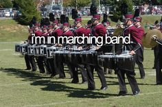 IM IN MARCHING BAND NOW!!!!!! I'm so excited for next week!!!!