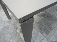 Gescova Azur Cannes Vierkante Verlengbare-uitschuifbare Warmgrijs Volledig aluminium Buitentuin outdoor Tuintafel