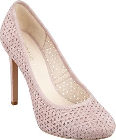 Nokota - Round toe pump with perforated detailing at Nine West.