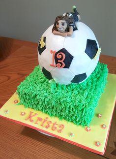 Girls Soccer Ball Cake                                                       …