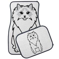 Ragdoll Cat Cartoon Floor Mats