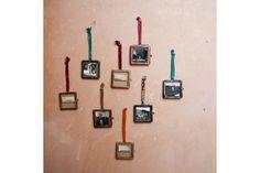 Mini cadre photo à suspendre, métal gris, Nkuku