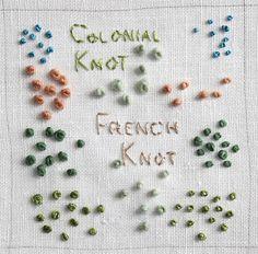Colonial Knot sampler by flossbox, via Flickr