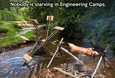 When engineers go camping...