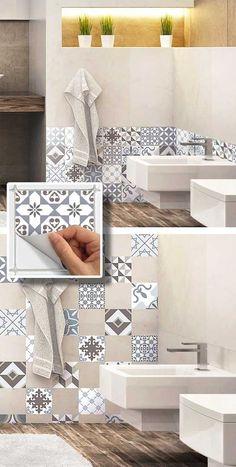 16 idee originali per decorare con le piastrelle adesive! Ispiratevi…
