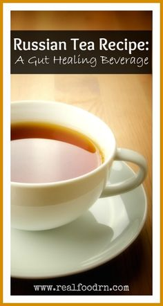 Russian Tea Recipe: A Gut Healing Beverage. Make up this dry tea mix to enjoy every day, while healing your gut. Tastes like the old Russian Tea mix that we used to make with Tang and Instant Lipton! realfoodrn.com #russiantea #guthealing