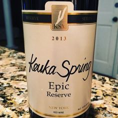 Nittany Epicurean: 2013 Keuka Spring Vineyards Epic Reserve