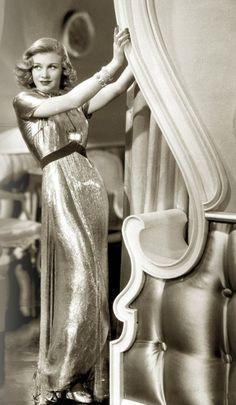 Ginger Rogers. Swoon. c/o Art Deco Blog c/o etangsnoirs      Ginger Rogers