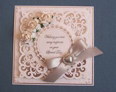 Stunning Floral Wedding, Anniversay or Engagement - Card Topper                                                                                                                                                                                 More