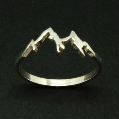 Silver Mountain Range Ring – Mountain Jewelry Jewellery, Ring Size UK United Kingdom and Australia B Sterling Silver Mountain Range Ring Hope Ring Dream by yhtanaff Cute Jewelry, Jewelry Box, Silver Jewelry, Jewelry Accessories, Jewlery, Gold Jewellery, Silver Earrings, Jewelry Armoire, Jewelry Stores