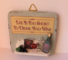 Vintage kitchen handmade door hanger sign by ManthaCreaMiniatures