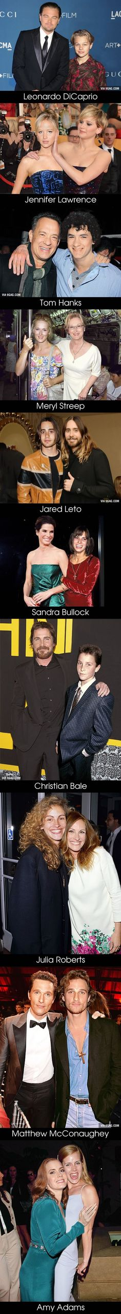 10 #Oscar #Nominees Posing with Their #Younger Selves