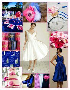 Royal blue and pink wedding inspiration