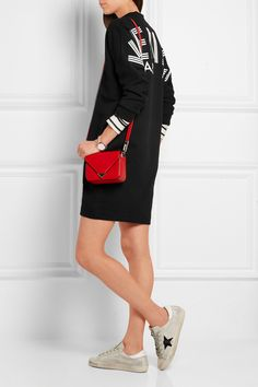 KENZO   Oversized printed cotton-jersey mini dress   NET-A-PORTER.COM