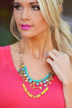 Mardi Gras Necklace from Closet Candy Boutique