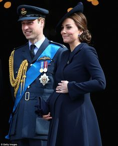 Mum knows best: Kate, pictured today with husband William, is exhausted by the rigours of pregnancy