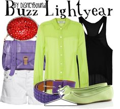 A fashion look from June 2012 featuring green shirt, cropped tank tops and short shorts. Browse and shop related looks. Disney Cute, Disney Style, Disney Nerd, Disney Bound Outfits, Disney Dresses, Disney Clothes, Disney Inspired Fashion, Disney Fashion, Character Inspired Outfits