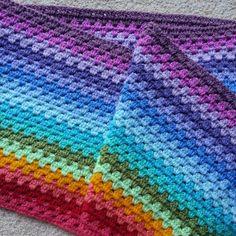 Love these colours, granny stripe blanket inspired by Attic 24's pattern here: http://attic24.typepad.com/weblog/granny-stripe.html