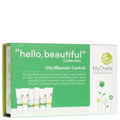MyChelle Oily/Blemish Control Collection Kit Clay Minerals, Natural Exfoliant, Unclog Pores, Skin Serum, Travel Kits, Hello Beautiful, Natural Skin Care, Moisturizer