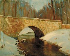 View Stone bridge in winter by Edward Willis Redfield on artnet. Browse upcoming and past auction lots by Edward Willis Redfield. Landscape Paintings, Landscapes, American Impressionism, American Art, Past, Bridge, Stone, Winter, Artist