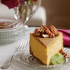 I LOVE CHEESECAKE AND PUMPKIN CHEESECAKE IS ESPECIALLY A FAVORITE DURING THE HOLIDAYS.