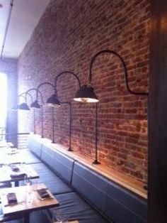 The AQ Restaurant lights