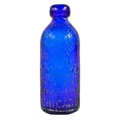 """vibrant hard to find 1880's vibrant cobalt blue embossed glass hutchinson style lomax flavored soda bottle with """"open pin"""" trademarked logo- j.a. lomax, chicago, il.  UR #: UR-21751-15 - See more at: http://www.urbanremainschicago.com/products/19th-century-american-bottles/vibrant-electric-blue-blobtop-hutchinson-style-bottle-manufactured-by-j-a-lomax-in-chicago.html#sthash.GskPYUrq.dpuf"""