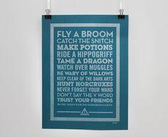 Tame a Dragon - Pen Drawn Poster - Harry Potter Theme £16.00