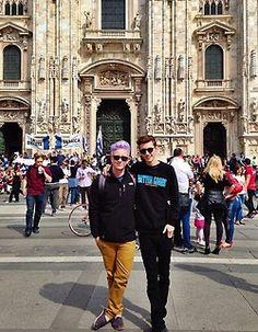 Tyler Oakley and Troye Sivan #Troyler
