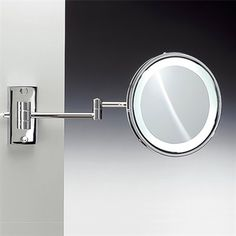 Lighted wall mounted magnifying mirrors for bathrooms google nameeks windisch chromed brass magnifying extendable wall mounted single face vanity mirror with plug in light includ aloadofball Choice Image