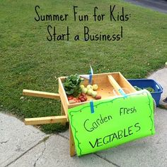 Summer fun activity for kids - start a business! How to raise little entrepreneurs.