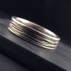 Bound - Sterling Silver Wedding Band - unisex and made to order in your size on Etsy, $69.00