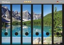 Ordnerrücken Sticker Tiefblauer See mit Bergpanorama und Wäldern – Kanada  36 x 30  ansehen.