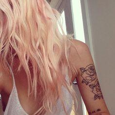 Peach hair - this makes me so happy