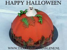 Halloween boltaart met spookje