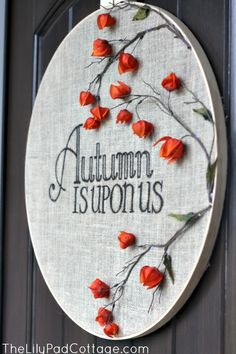Great idea for an unusual fall wreath