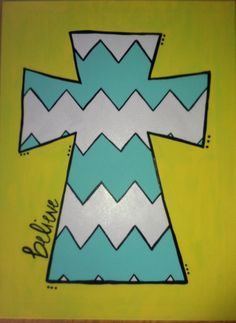 Painted canvas cross. would love with scripture!
