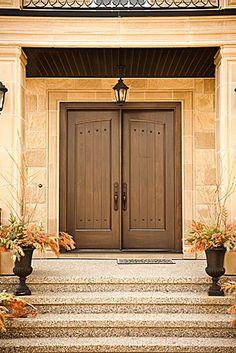 Nice front doors!