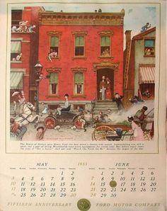 Ford 50th anniversary Calendar.  Source: Internet