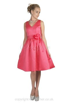 Find it here: https://www.sexyher.co.uk/product-Beautiful_V_Neck_Cocktail_Dress_With_Flower_Detail-1166.html