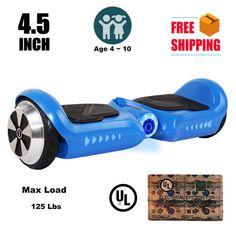 "4.5"" Hoverboard Kids Mini Two Wheel Smart Self Balancing Scooter Board Blue"