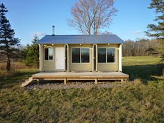 teve recently completed the construction of his Tin Can Cabin, a home away from home in northern Wisconsin, which he built from three shipping containers. Even though he has no professional building, engineering or architectural experience, he designed and built the cabin from the ground up by himself. He estimates that the entire cabin, complete with furnishings, will cost him $80 per square foot.