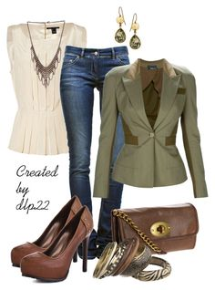 Olive & Cream by dlp22 on Polyvore featuring Marc by Marc Jacobs, Alexander McQueen, Étoile Isabel Marant, GUESS, FOSSIL and Athena Designs