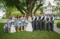 The perfect venue for this beautiful bride and groom's vintage themed wedding. Palmetto Riverside Bed & Breakfast. Hannah & Jaramy on Borrowed & Blue.  Photo Credit: Ashlee Hamon Photography, INC.