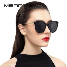 Cheap sunglasses color, Buy Quality sunglasses uk directly from China sunglasses cloth Suppliers: MERRY'S Women Cat Eye Sunglasses Brand Designer Sunglasses Classic Shades Round Frame Polarized Sunglasses, Cat Eye Sunglasses, Sunglasses Women, Nice Sunglasses, Trending Sunglasses, Sunglasses Accessories, Women's Accessories, Lunette Style, Moncler