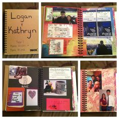 My Creation: Couple Yearly Journal - I make a journal for every year we are together! This is the journal of our first year. It is about 15 pages of pictures and captions. I love looking back through it!