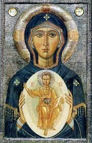 The Mother Of Christ by Father Vassall-Phillips Part Religious Images, Religious Icons, Religious Art, Mother Of Christ, Blessed Mother Mary, Byzantine Icons, Byzantine Art, Russian Icons, Russian Art
