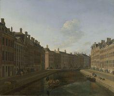 Gezicht op de Gouden Bocht in de Herengracht in Amsterdam, Gerrit Adriaensz. Berckheyde, 1685