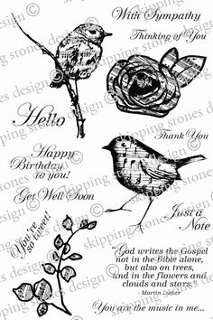 Skipping Stones Design Stamps: Heartsong 2