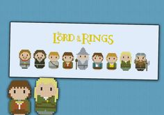 The Lord of the Rings - The fellowship of the Ring - Mini People - Cross Stitch Patterns - Products